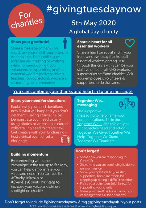 Ideas for charity participation in #givingtuesdaynow